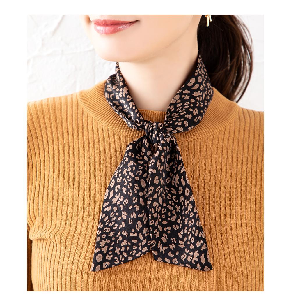 日本CREAM DOT  /  全7色 スカーフ ツイリースカーフ ファッション小物 ベルト ストール 大人 レオパード柄 ゼブラ柄 ペイズリー柄 ベージュ モカ レンガ  /  k00335  /  日本必買 日本樂天直送(1290) 6