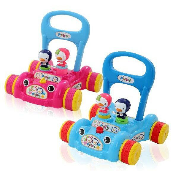 麗嬰兒童玩具館~puku藍色企鵝30207-企鵝情侶啾啾助步車可調整速度呦 2