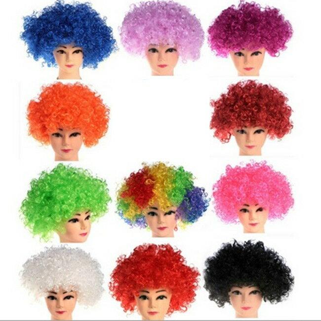 爆炸頭 假髮 球迷假髮 爆炸假髮 短髮 長髮 萬聖節  派對  服裝  角色扮演  變裝