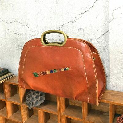 手提包植鞣皮側背包-復古風優雅大方精選女包包4色73sv46【獨家進口】【米蘭精品】