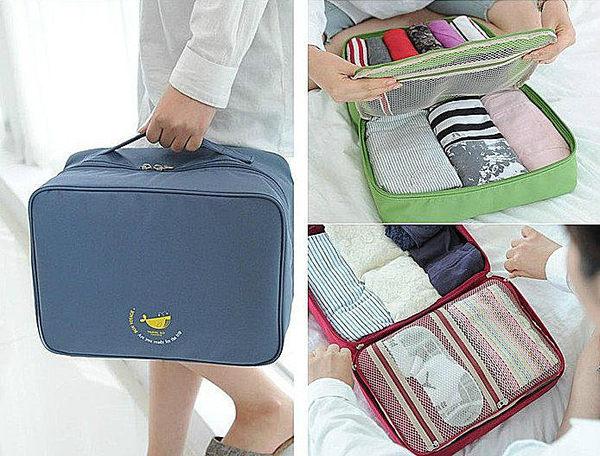 ♚MY COLOR♚韓系旅行包 胸罩內衣物收納袋 整理包手提包出國外出旅行袋 PARTIT