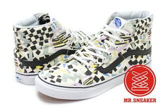 【整點特賣限時5折】☆Mr.Sneaker☆ VANS Eley Kishimoto SK8-HI Slim 英國設計品牌 聯名 高筒 幾何 米白 女段