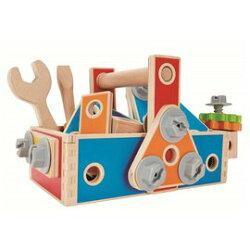 【淘氣寶寶】德國 愛傑卡 Hape 組裝建構系列工匠組(72PCS)