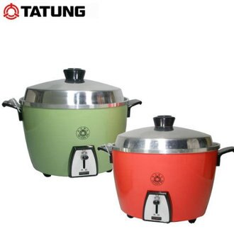 『TATUNG』☆  大同 15人份不鏽鋼內鍋 電鍋 TAC-15L-SR (紅色) /TAC-15L-SG(綠色) ** 免運費 **