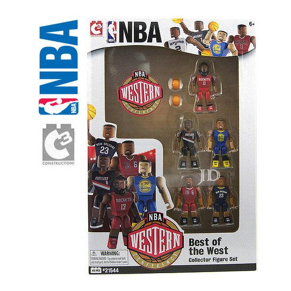 【C3 TOYS】超可動積木人偶 NBA系列 - 明星球員5入套組 西區 21544