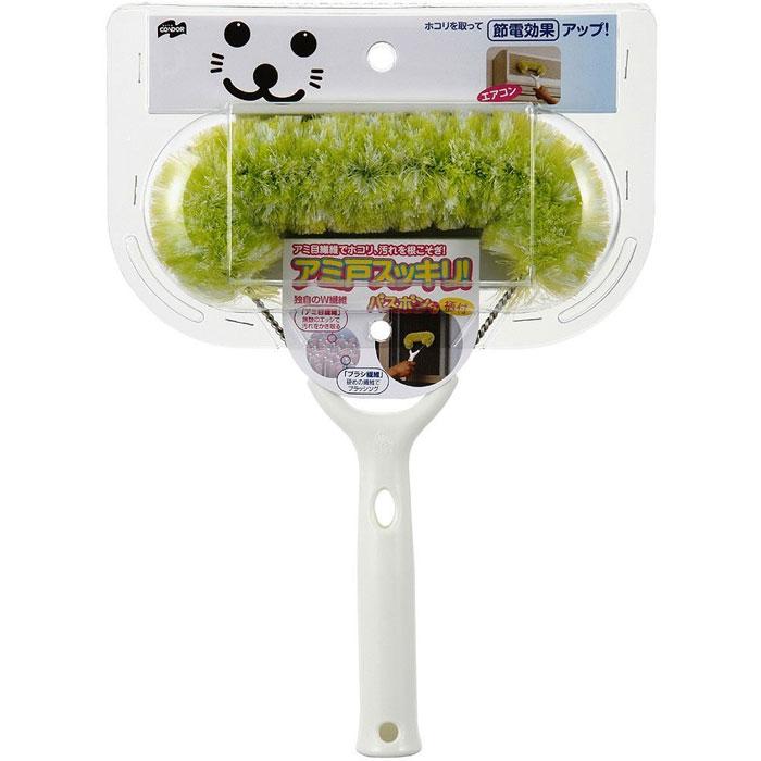 【日本山崎】小海豹附柄濾網除塵刷 / 冷氣清潔 紗窗清潔 除塵
