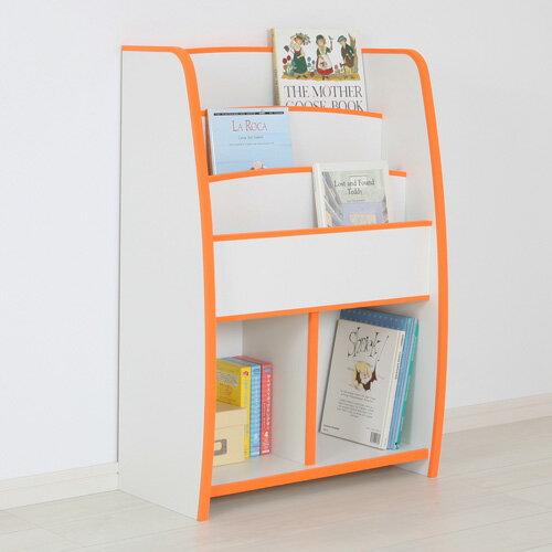 日本直輸/書櫃/收納櫃 TZUMii 小木偶四層二格收納櫃-橘白