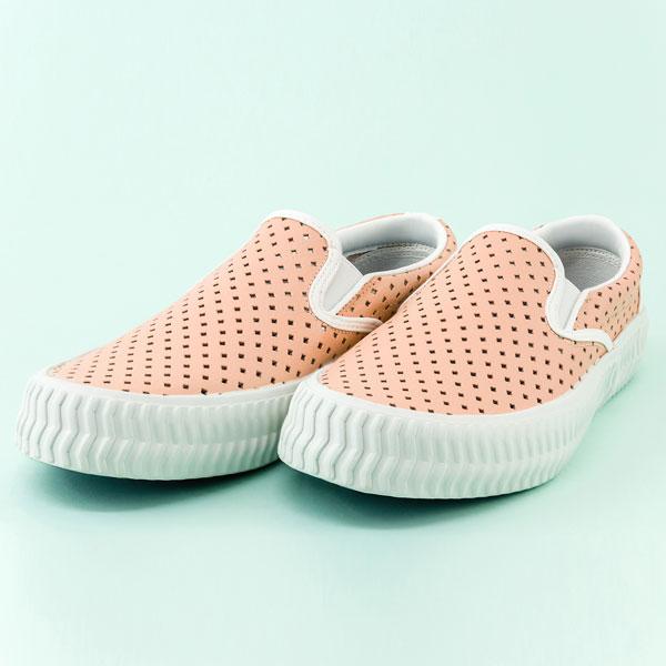 Vladi真皮休閒鞋,洞洞鞋,餅乾鞋.台灣製造 (粉橘) 贈廣富號製托特包