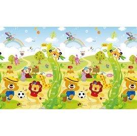 【飛炫寶寶】PARKLON 韓國帕龍無毒地墊 - 單面包邊PE爬行墊【動物嘉年華】PG04