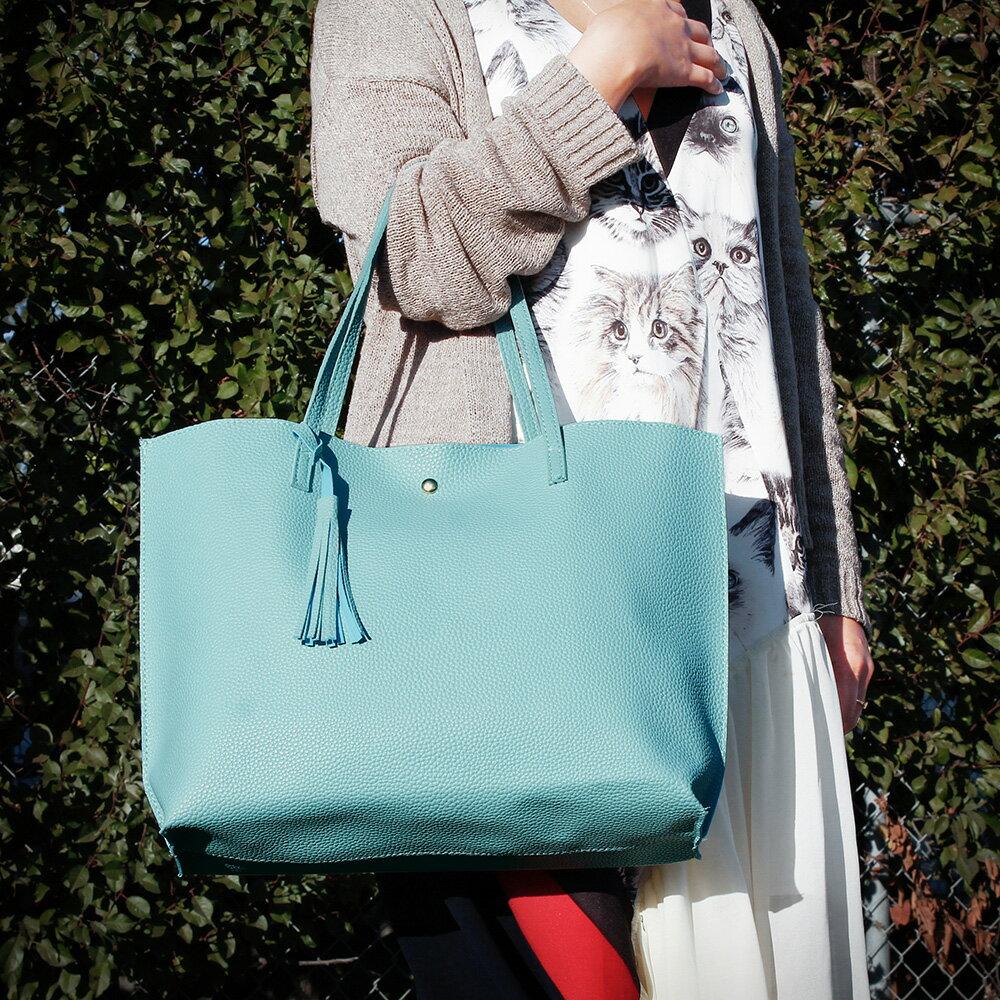 Women Tote Bag Tassels Leather Shoulder Handbags Fashion Ladies Purses Satchel Messenger Bags 2