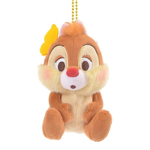 X射線【C771718】日本東京迪士尼代購-奇奇蒂蒂Chip'n'Dale春暖花開吊飾娃娃-蒂蒂,絨毛填充玩偶玩具公仔鑰匙圈吊飾玩偶包包吊飾