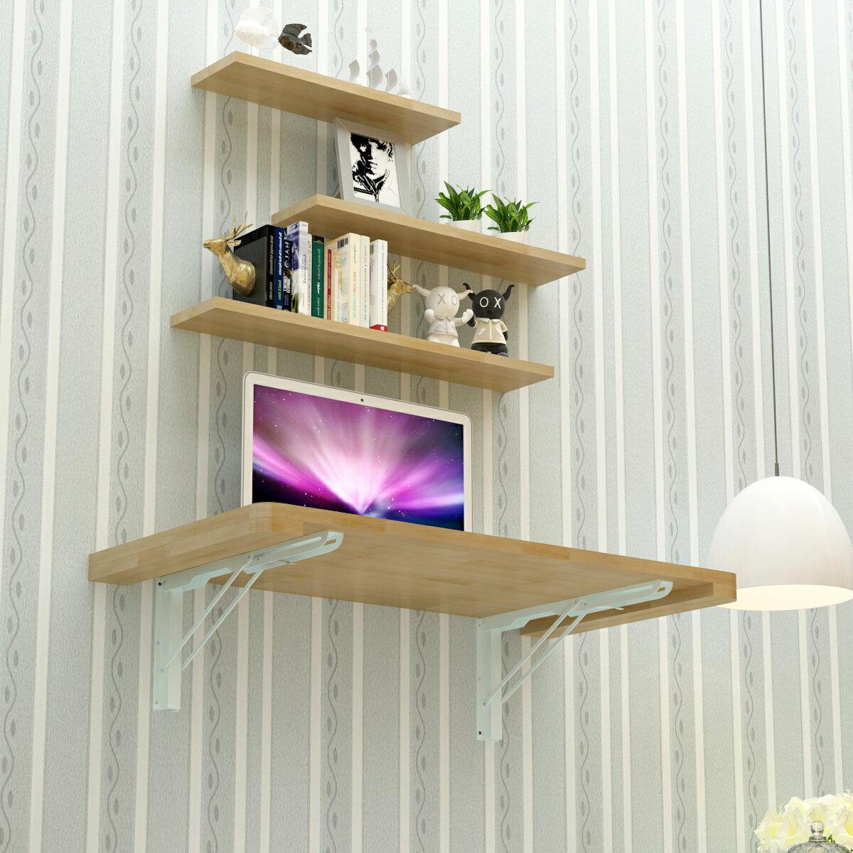 實木壁掛折疊桌小戶型壁掛連壁桌靠牆電腦桌隱形牆桌簡易電腦桌 9