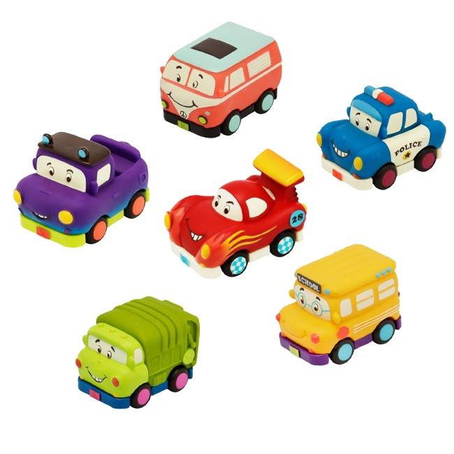 【奇買親子購物網】美國B.Toys 迷你迴力車