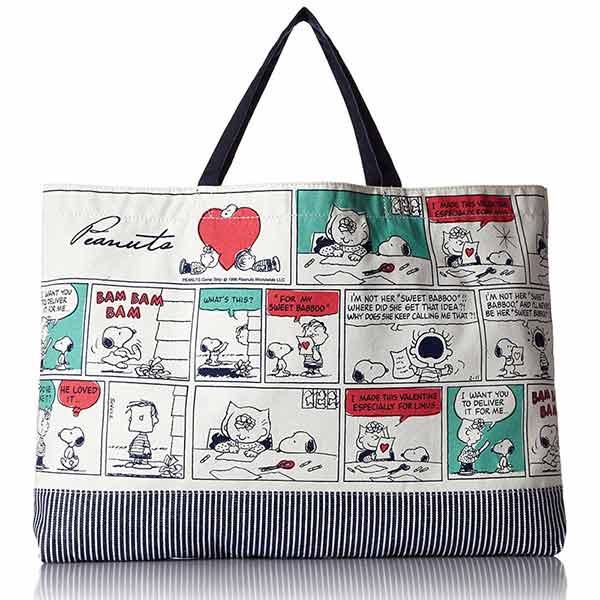 sightme看過來購物城:CR14207【日本進口正版】史努比Snoopy學院篇手提袋手提包肩背包PEANUTS-142076
