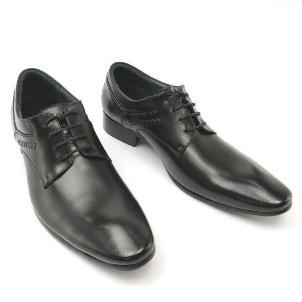*牛津鞋* 時尚舒適尖頭排壓氣墊皮鞋77-A692(黑)☆【彩虹屋】☆