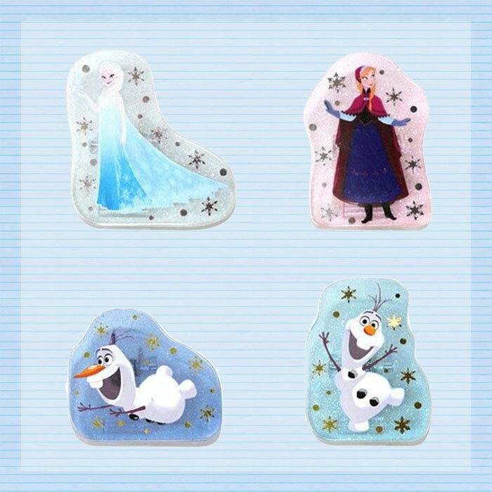 大田倉 日本進口正版 Forzen 冰雪奇緣 艾莎 安娜 雪寶 夾子 造型夾 筆記夾 便條夾 拍立得夾