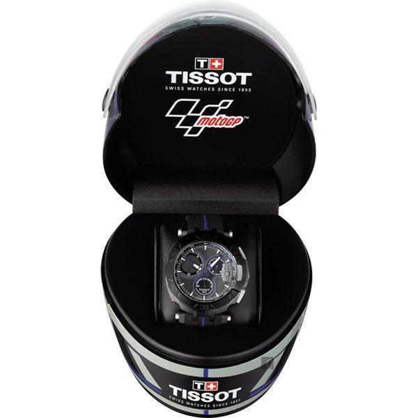 全球限量5000只 TISSOT 天梭 T-RACE MOTOGP 2017限量版賽車錶-黑x藍 / 45mm T0924173706100 8