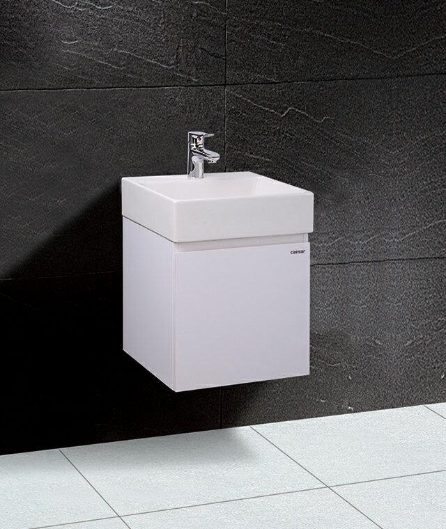 【caesar凱撒衛浴】LF5257A一體盆+EH155浴櫃組、瓷面排桿.落水頭)