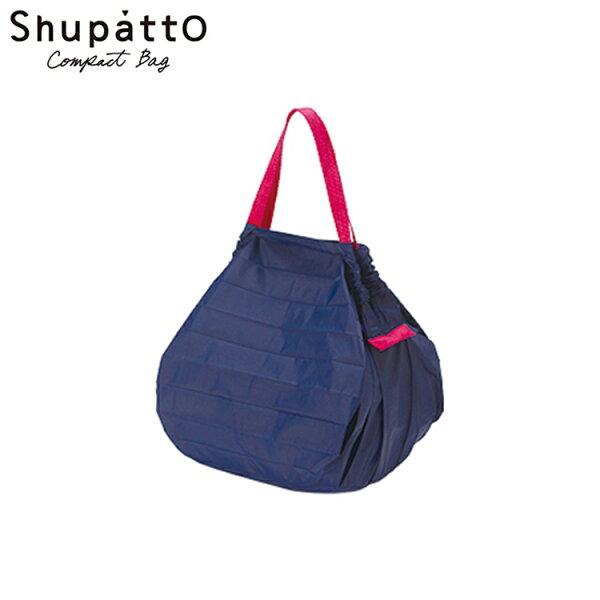 又敗家@日本Shupatto好收納購物袋S-419折疊式側背包好收秒收購物袋萬用包大容量折疊式環保購物袋紅點設計購物袋包