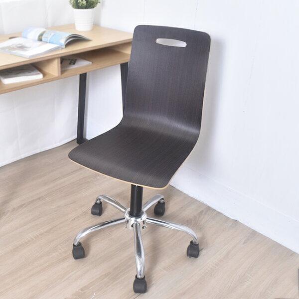 凱堡傢俬生活館:凱堡席丹曲木鐵腳辦公椅電腦椅【A10201】