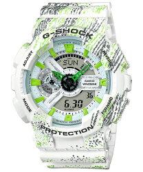 CASIO G-SHOCK GA-110TX-7A 霧狀蠟筆紋流行時尚腕錶/51mm