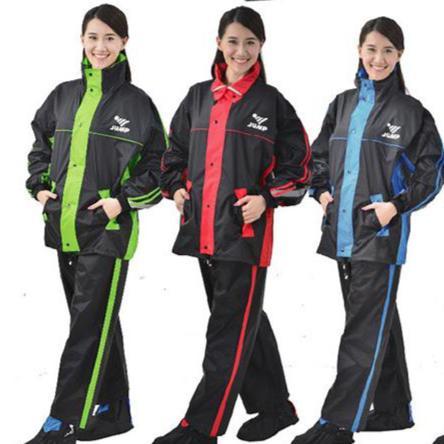 【巷子屋】【JUMP】雅仕套裝休閒風雨衣 兩件式 有內裡 [JP-0666A] 4色 超值價$750
