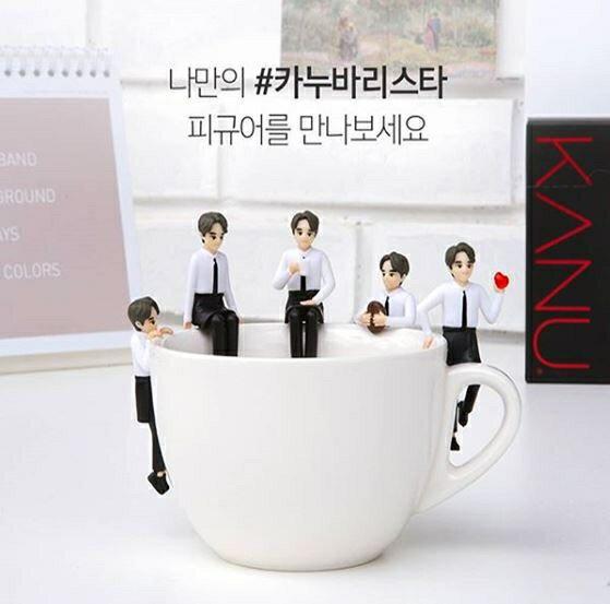 韓國 KANU 炭焙無糖黑咖啡 MINI 馬克杯組+隨機贈孔劉杯緣公仔1個【特價】異國精品 1