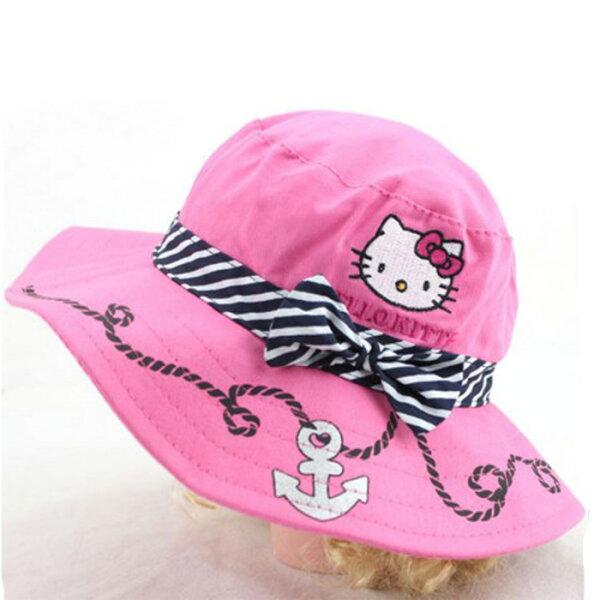 糖衣子輕鬆購【BA0020】HELLOKITTY時尚兒童盆帽卡通遮陽帽漁夫帽休閒帽子