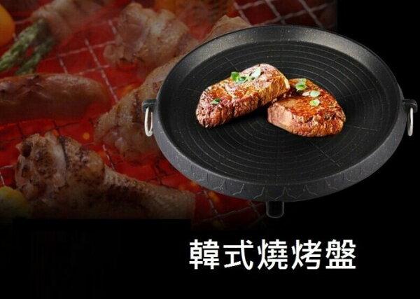 《沛大旗艦店》$359韓國火烤兩用烤盤露營中秋瓦斯爐卡式爐可用燒烤盤環保烤盤烤肉盤韓國烤肉烤肉爐【S60】