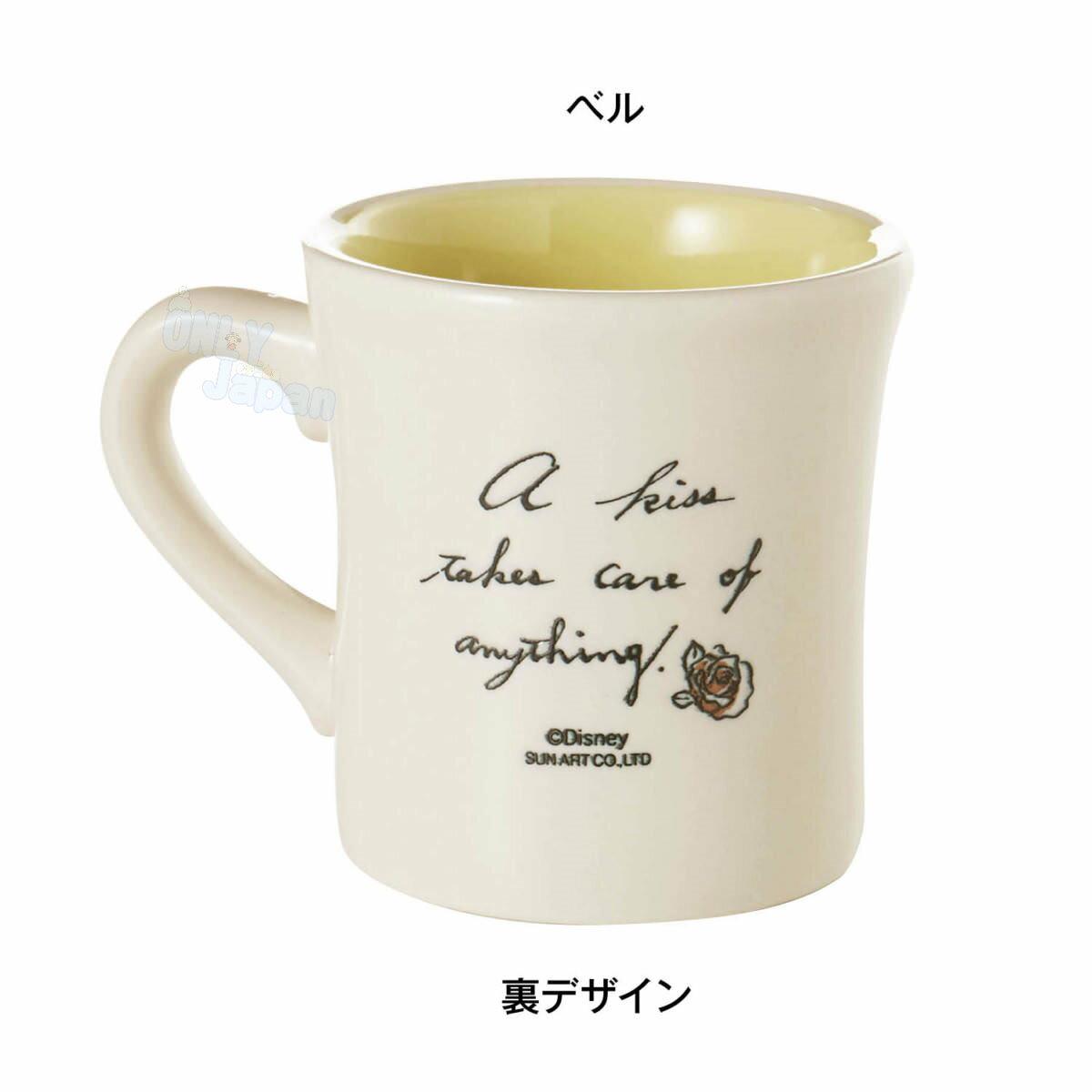 日本製 陶瓷馬克杯 公主 貝兒 迪士尼 馬克杯 水杯 杯子 單耳杯 杯 4942423240860 真愛日本