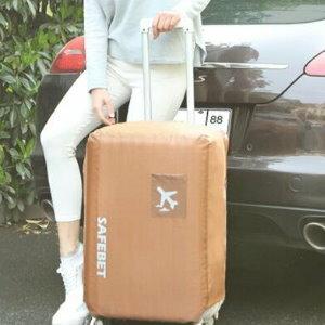 美麗大街【CF445E4】SAFEBET防水加厚耐磨彈力牛津布行李箱保護套(M碼)