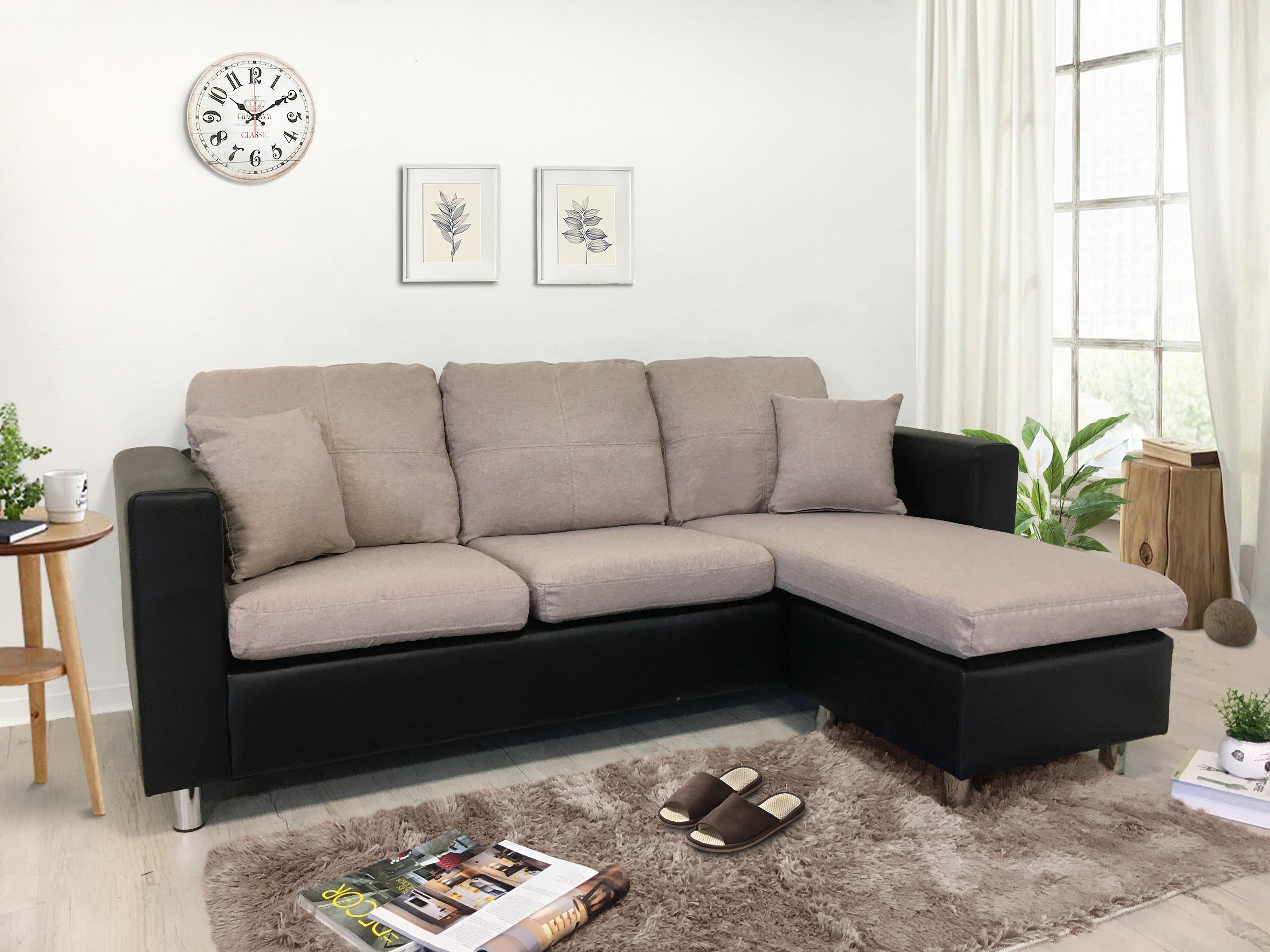 !新生活家具! 卡其 黑色 布沙發 皮沙發 可拆洗 L型沙發 三人位沙發 腳椅 三色《范特西》非 H&D ikea 宜家 套房