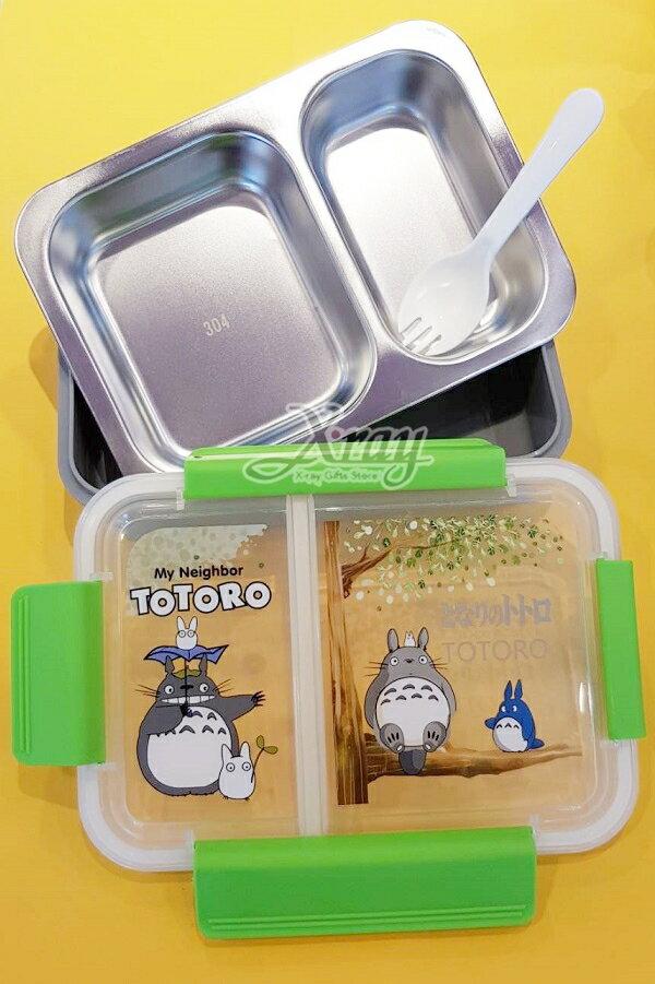 X射線【C261386】龍貓TOTORO 不鏽鋼分隔飯盒,便當盒 / 保鮮盒 / 保溫罐 / 食物罐 / 童用便當盒 / 飯盒 / 餐盒 1