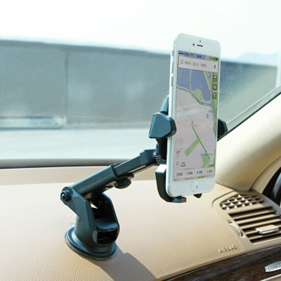 ♚MY COLOR♚ 汽車吸盤手機支架 車載 手機 出風口 導航 旋轉 桌面 音樂 手遊