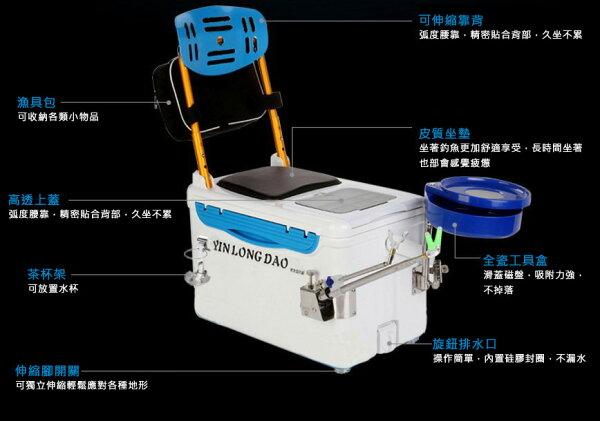 3699shop:多功能釣魚冰箱釣魚座椅釣竿支架(豪華配備版)
