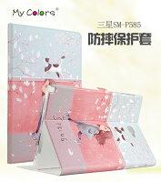 Samsung 三星到三星Tab A 10.1 P580N  MyColor 平板彩繪卡通皮套 P585N皮套 彩繪卡通皮套 保護殼 【預購商品】