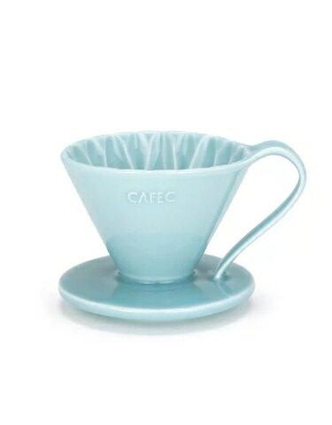 金時代書香咖啡 CAFEC Flower Dripper 花瓣濾杯 2-4人 藍色 CFD-02-BL