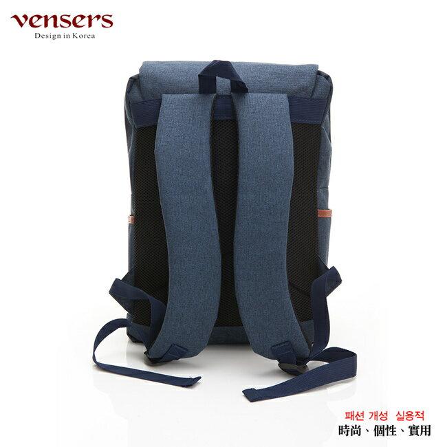 【vensers】簡約丹寧牛仔後背包(R00064101寶藍) 1