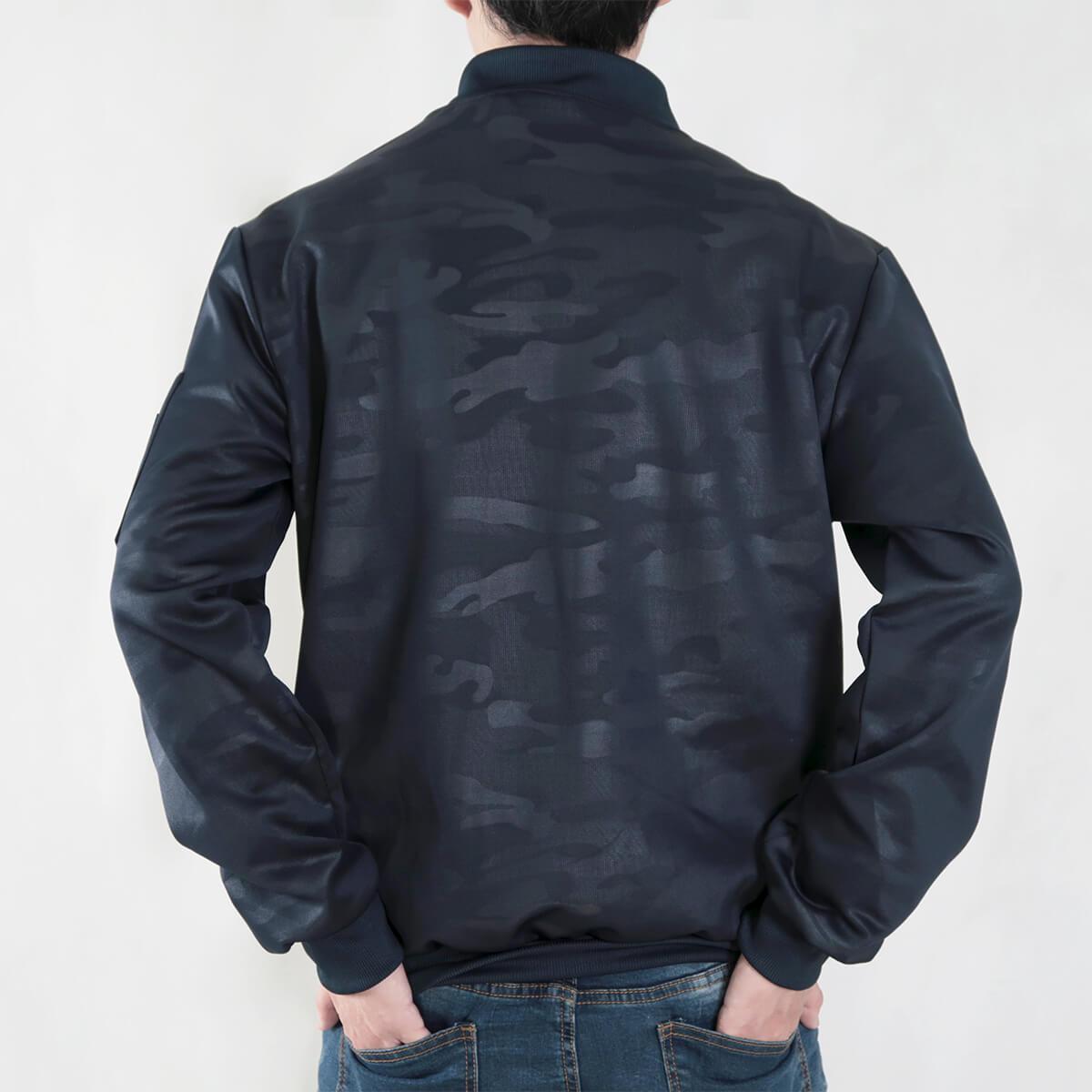 韓版迷彩飛行夾克 MA-1飛行外套 迷彩外套 空軍外套 輕量單層薄外套 MA-1 CAMOUFLAGE FLIGHT JACKET (321-8917-01)深藍色、(321-8917-02)黑色 3L 4L(胸圍48~51英吋) [實體店面保障] sun-e 7