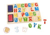 Toysters Wooden Alphabet Stamp Puzzle for Kids