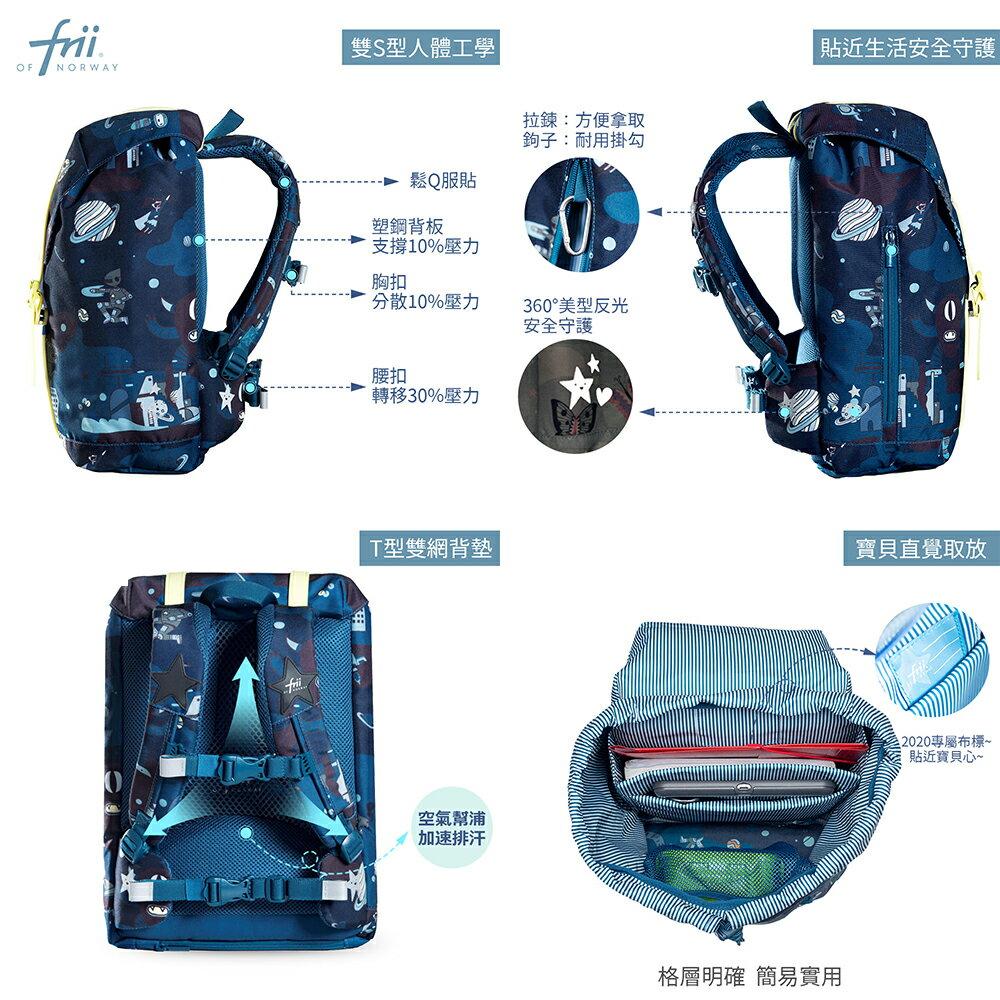 Frii of Norway 官方直營北歐護脊書包-22L840g+隨行小包--Space宇宙奇遇