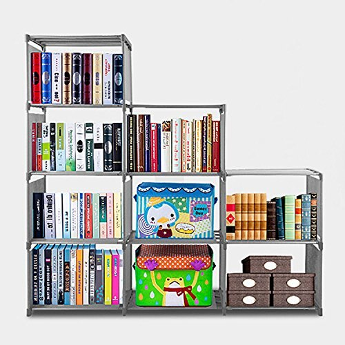 9 Cubes Bookcase Diy Adjustable Cabinet Bookshelf Kids Office Bookshelf Closet Shelf Home Furniture Storage