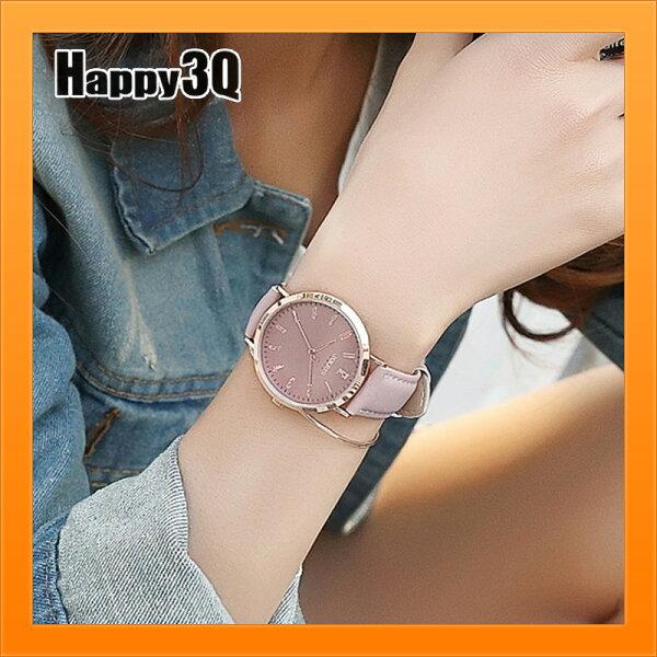 素色百搭腕錶復古手錶休閒女錶日韓風百搭石英錶女錶-粉綠藍棕黑【AAA4297】