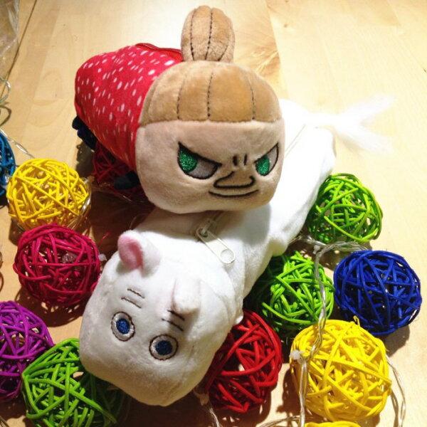 卡通嚕嚕米小河馬趴趴款可愛立體毛絨筆袋化妝包收納包鉛筆盒交換禮物娃娃