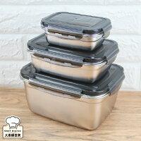 KOM不鏽鋼保鮮盒大容量三入組350ml+850ml+2800ml-大廚師百貨-大廚師百貨-居家生活推薦