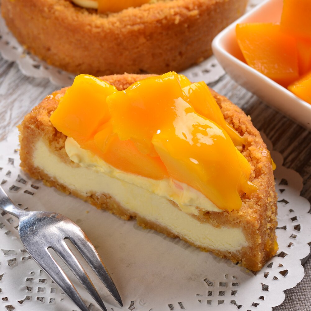 限定只到7  31~艾波索.仲夏黃金芒果乳酪4吋~美食按個讚 !