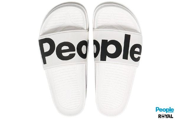 PEOPLE 新竹皇家 The Lennon Slide 白色 輕量 拖鞋 男女款 NO.A7962