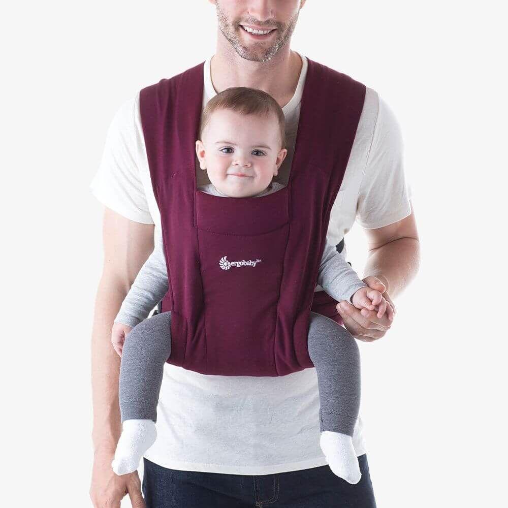 Embrace環抱二式初生嬰兒揹巾/揹帶-酒紅色