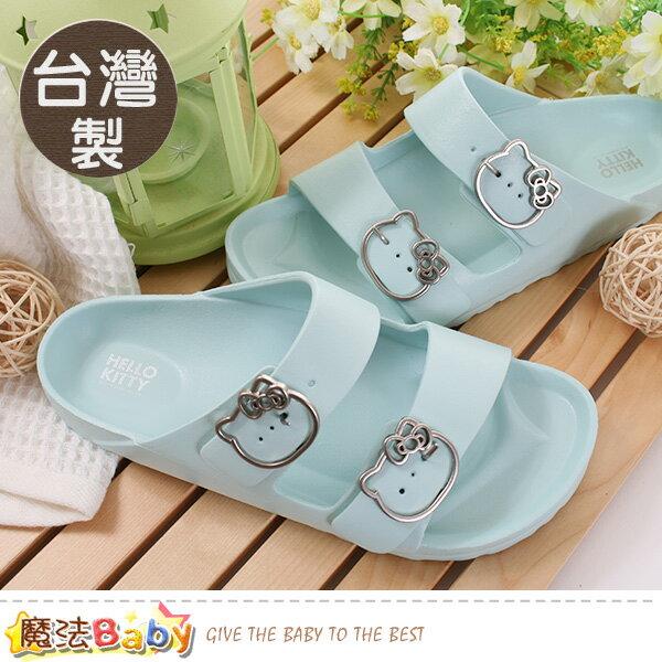 女鞋台灣製Hellokitty授權正版時尚拖鞋魔法Baby~sk0457