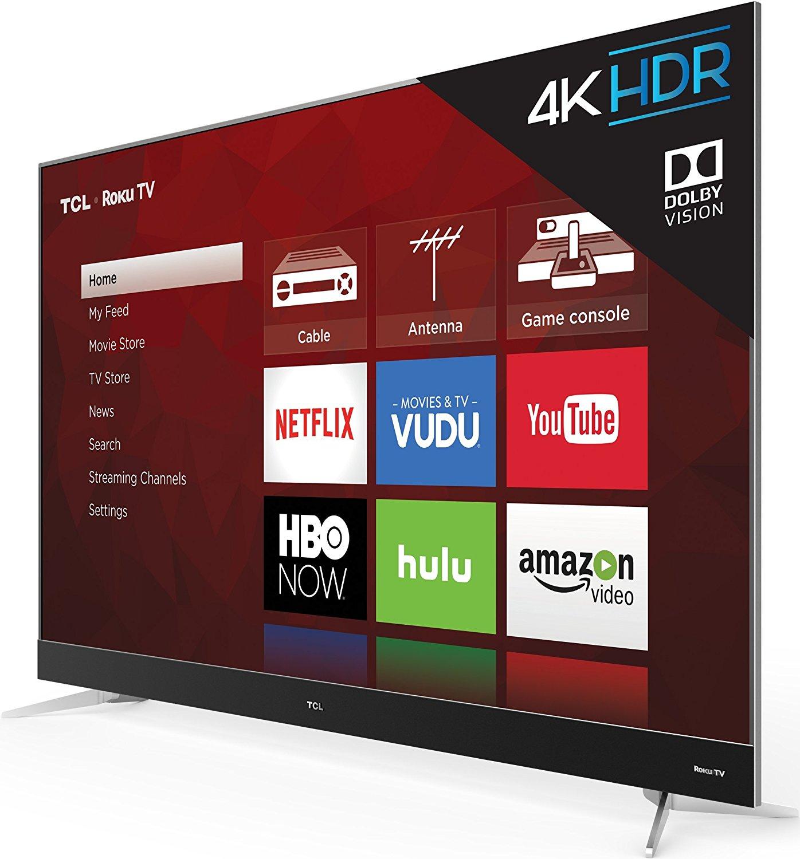 TCL 55C807 55-Inch 4K Ultra HD Roku Smart LED TV (2017 Model) 0